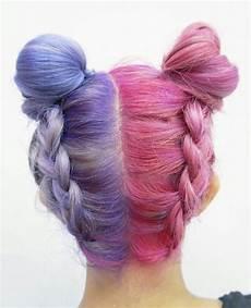 Half Pink Half Blue Half Purple Half Pink Hair Tumblr