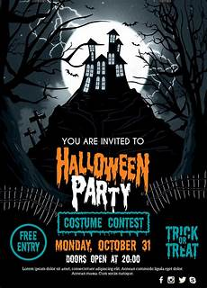 Free Halloween Flyer Template 60 Free Halloween Posters Invitation Flyers Amp Print