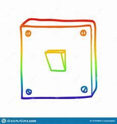 Light Switch Cartoon Images A Creative Rainbow Gradient Line Drawing Cartoon Light