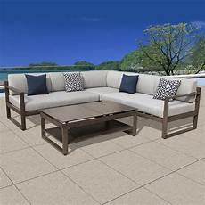 ove decors melia 4 aluminum outdoor sectional set