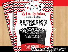 Magic Themed Birthday Invitations Magic Themed Birthday Party Invitation Personalized