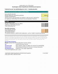 Paycheck Tax Calculator Washington State Federal Income Tax Withholding Calculator Free Download