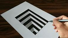 Drawing 3d Very Easy Drawing 3d Hole On Paper Youtube