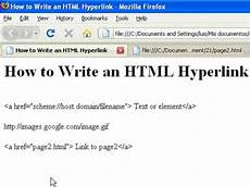 Create Hyperlink Html How To Create Web Pages Using Html How To Write An Html