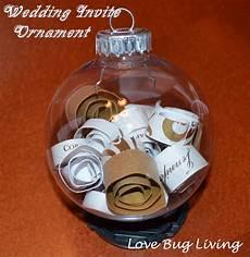 Wedding Invitation Ornaments Love Bug Living Wedding Invitation Christmas Ornament