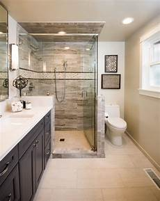 luxurious and spacious master bathroom on a small