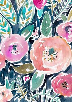 Navy Floral Iphone Wallpaper by Watercolor Floral Pattern Navy Pink Fuschia Teal