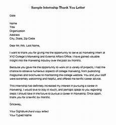 Thank You For Opportunity Letter Sample Download Internship Thank You Letters Pdf Word