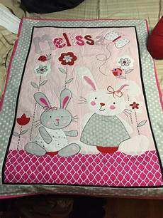 patchwork bebe custom made personalized applique baby quilt by