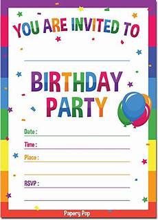Online Party Invitation Templates Birthday Party Invitations Comedy Kids Magic