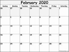 February 2020 Blank Calendar Templates