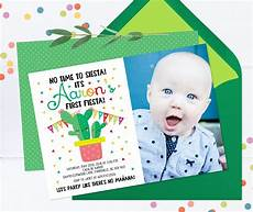 Birthday Invi Fiesta First Birthday Invitation Fiesta Invitation 1st
