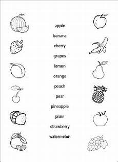 Fruits Vocabulary For Kids Learning English Matching Game