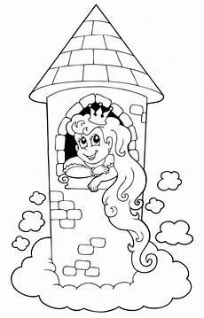 Ausmalbilder Zum Ausmalen Im Ausmalbild M 228 Rchen Ausmalbild Rapunzel Im Turm Kostenlos