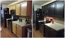 diy painting kitchen cabinets before and after pics