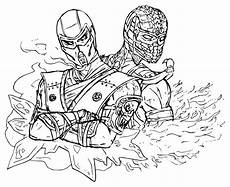 mortal kombat coloring pages to and print for free