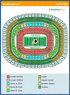 Fedex Seating Chart Fedexfield Seating Chart Pictures Directions And