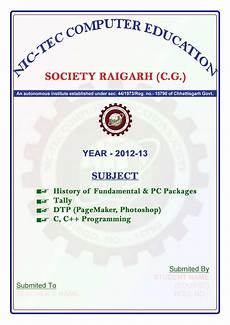Front Page For Computer Project Welcome To Nic Tec Computer Education Society Front Page