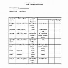 Kitchen Cleaning Rota Template Cleaning Schedule Template 25 Free Sample Example