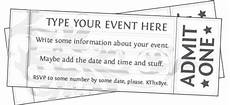 Ticket Making Template Free Printable Event Ticket Template To Customize