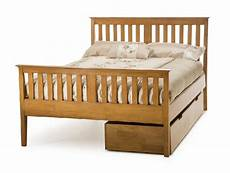serene grace 6ft king size cherry wooden bed frame
