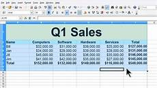 Sample Of A Spreadsheet Openoffice Calc 4 Tutorial 8 Worksheet Example Sales