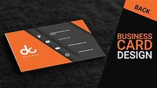 Business Card Card Design Business Card Design In Photoshop Cs6 Back Orange