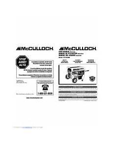Mcculloch Fg7000ma Manuals