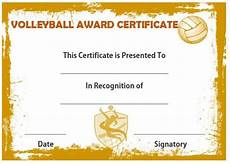 Volleyball Certificate Templates 19 Best Volleyball Certificates Free Printables Images On