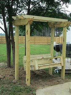 pergola swing white swing and arbor diy projects