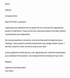Thank You Letter After Nursing Interview 15 Thank You Letters After Interview Sample Templates