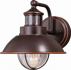 Motion Detector Garage Lights Vaxcel T0252 Harwich Dualux Burnished Bronze Outdoor