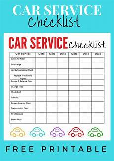 Car Maintenance Checklist Form Car Service Checklist Explores Southwest Florida