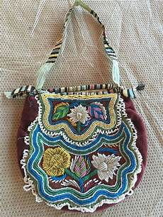 antique iroquois beaded bag american beadwork dg1c