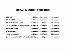 Lunch Schedule Template Lunch And Break Schedule Templates At