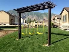 pergola swing pergola swing set i built for my yard in 2019