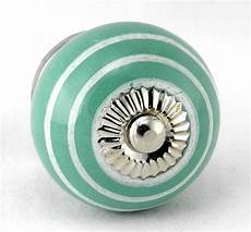 aqua ceramic knobs retro cabinet drawer pulls handle ac ebay