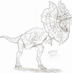 dilophosaurus dinosaur coloring pages dinosaur coloring