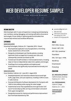 Wordpress Developer Resume Web Developer Resume Sample Amp Writing Tips Rg
