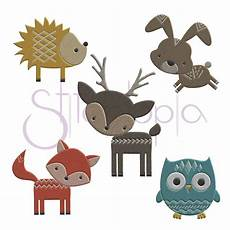 embroidery animals forest animals embroidery design set stitchtopia