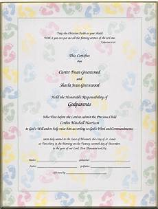Christening Certificate Christening Certificates For Godparents Certificates