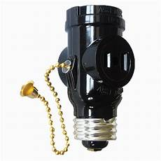 Outdoor Light Bulb Outlet Adapter Project Source 660 Watt Black Medium Light Socket Adapter