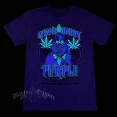 How To Make A Black Light Shirt Seven Leaf Granddaddy Purple Strain Black Light Purple T