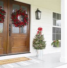 Farmhouse Front Porch Lights Our Farmhouse Christmas Front Porch Beneath My Heart