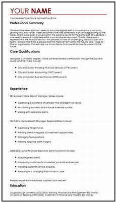 Executive Cv Example Cv Sample For Executives Myperfectcv