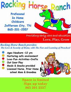 Daycare Ad Rocking Horse Rance In Home Childcare Jefferson City Tn