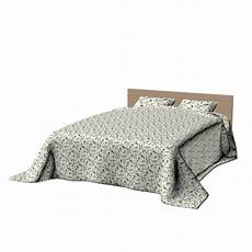 malm bed frame 140x200cm with bedspread design and