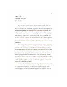 Compare And Contrast Essay Cats And Dogs Engl 0310 Essay 3 Dogs Vs Cats This Essay Will Compare