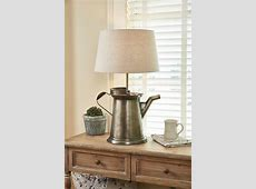 """Large Coffee Pot Lamp with Lampshade 26"""" x 15.5"""" x 10"""""""