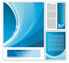 Word Background Templates Ice Blue Theme Word Template 08107 Poweredtemplate Com